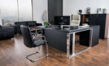 Zeitgenössischer heißer verkaufenbüro-Tisch mit Leder (AT023A)