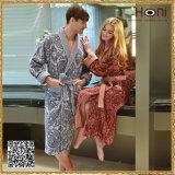 100% peignoirs de velours de coton, peignoirs de couples, peignoirs de Men&Women