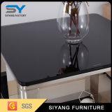 Mesa de centro lateral de cristal del vector de la sala de estar de los muebles del metal