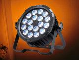 Poder más elevado de interior LED PAR64 de la colada del aluminio 15W Rgbaw