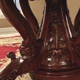 Tabella di legno con la presidenza di cuoio del sofà per la mobilia della sala da pranzo
