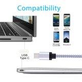 Тип кабель оптового нейлона USB 3.1 хорошего качества экстренного длиннего Braided c