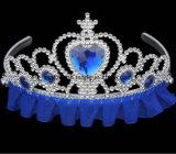As tiaras plásticas dos miúdos vendem por atacado a princesa elegante Tiara dos miúdos