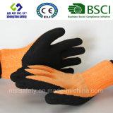 Enduit de nitriles, gants de travail de sûreté de fini de Sandy (SL-NS118)