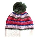 Просто Striped связанные шлем, перчатка и шарф (JRK110)