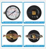 黒い鋼鉄はUクランプが付いている接続正確に測圧力ゲージを正確に測る