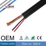 Câble coaxial de liaison de câble d'alimentation de l'ohm Rg59 de Sipu 75 avec 2c