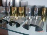 Tubo ranurado oval del acero inoxidable para el vidrio