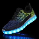 China Fabriek Gemaakte In te ademen Flyknit Mensen Laarzen Nieuwe LEIDENE Pruduct Lichte omhoog Toevallige Schoenen