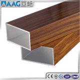 Perfis de alumínio da extrusão da cor de madeira