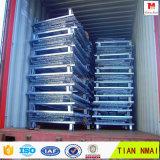 Gaiola de dobramento logística Lockable do armazenamento do engranzamento de fio