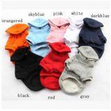 Le coton simple d'animal familier de couleur vêtx le crabot Hoodies avec le chapeau (KH0034)