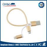 nylon 2 di rotondità del USB di 20cm in accessori del 1 telefono del cavo