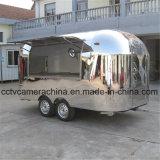 Быстро-приготовленное питание Van тележки еды профессиональной нержавеющей стали конструкции передвижное (SHJ-MBT400)