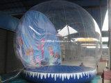 Decorazione gonfiabile del globo/natale della neve di natale/sfera gonfiabile della neve di natale