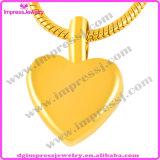 Шкентель нержавеющей стали Ashes ожерелье шарма сердца урны Keepsake (IJA008)
