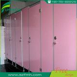 Puerta del cubículo de la ducha del cuarto de baño de la gimnasia/partición blanca del color