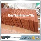Natuurlijke Steen die de Tegels van het Rode Zandsteen met Opgepoetste/Geslepen Oppervlakte vloert