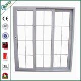 Porta deslizante de vidro dobro interior do PVC do projeto gama alta