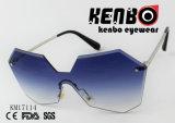 Marco del diseño de la novedad con completamente la lente y las gafas de sol hermosas de la manera del color Km17114 de Gradiant Lenc