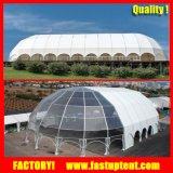 Nuova tenda del baldacchino della tenda foranea di evento della festa nuziale della curva di Arcum di disegno con la parete di vetro del solido del comitato dell'ABS