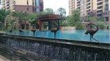 Cisne 2 de Waterscape, cisne ao ar livre do bronze da decoração de Waterscape do jardim