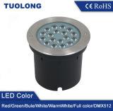 DMX制御を用いる熱い販売円形のタイプ18W RGB LEDの地下ライト
