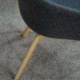 Cadeira estofada estofada de madeira da sala de estar da perna de madeira (SP-HC556)