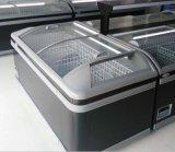 Supermarkt gebogene Glasmeerestier-Bildschirmanzeige-Brust-Gefriermaschine-Eiscreme-Gefriermaschine