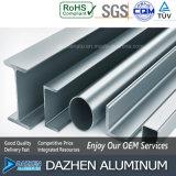 Profil T5 personnalisé de l'aluminium 6063 de qualité pour le cadre de tissu pour rideaux de guichet