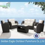 庭の部門別の柳細工のソファーの一定の藤の屋外の家具
