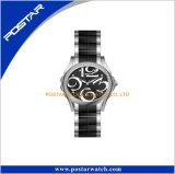 Reloj famoso de las mujeres de la marca de fábrica de la hebilla de la mariposa del acero inoxidable de la alta calidad