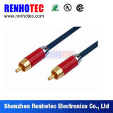 Cable video audio coaxial del RCA
