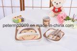 Conjunto de confeitaria infantil de fibra de bambu ecológico, utensílios infantis, tigela de tigela de bambu para crianças