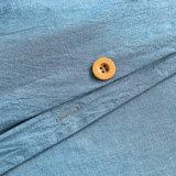 Milieu Katoenen Blauw Dekbed dat voor Kust wordt geplaatst