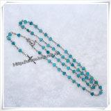 Papa Francisco, rosario del olor con el embalaje de la cruz del crucifijo del Jesucristo por el rectángulo plástico (IO-cr383)