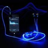 Écouteur coloré d'éclairage des écouteurs stéréo DEL de dans-Oreille avec la MIC