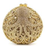 Bolsos de piedra cristalinos de lujo Leb886 de las mujeres de los bolsos de tarde del Rhinestone de los bolsos de embrague de la dimensión de una variable redonda de la alta calidad