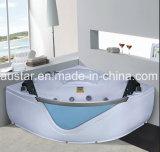 STAZIONE TERMALE d'angolo della vasca da bagno di massaggio di 1500mm con Ce RoHS per 2 la persona (AT-9809)