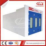 Guangliの製造業者の高品質の移動可能な赤外線ライトの暖房が付いている安い後部排気車のスプレー式塗料ブース