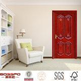 Porte française simple intérieure découpée par classique en bois solide (GSP2-002)