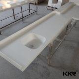 Kkrのホテルのプロジェクト(C1706052)のための固体表面の浴室の虚栄心の上