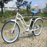 """최신 판매 26 """" 여자를 위한 바닷가 전기 자전거 자전거 Ebike"""