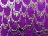 Silk ткань Lurex Georgette, Silk металлическая ткань пряжи