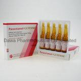 injeção da infusão do paracetamol 300mg/2ml para a analgesia e o antipirético