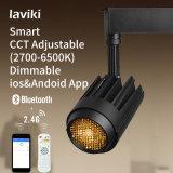 Controle Remoto Sem Fio 2.4G RFWW 24W CCT Regulável Dimmable COB LED Light Spot com Trilho de Trilho 2/3/4