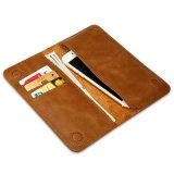Случай телефона бумажника Geniue кожаный с гнездом для платы для iPhone7plus
