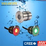 colore chiaro subacqueo dell'acciaio inossidabile LED di 1PCS 24V multi