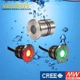 1PCS 24V LEIDENE van het Roestvrij staal Onderwater Lichte MultiKleur