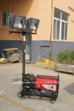 Pneumatic Lifting Mast Portable Lighting Vehicle for Easy Movable